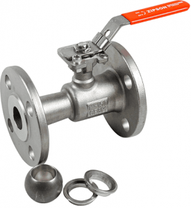 1-pc flange metal seated ball valve for high temperature