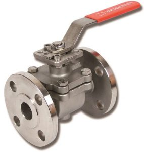 110F, top-entry flange ball valve, stainless steel