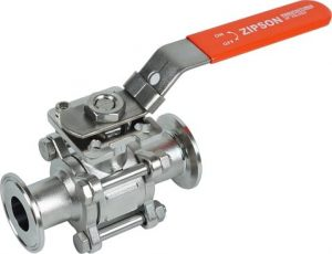 302S, 3-pc sanitary ball valve, EP finish