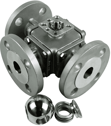 501M, 3-way metal seated valve