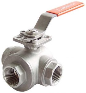 501S, 3-way ball valve