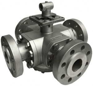 513F, multi-way, high pressure flange ball valve