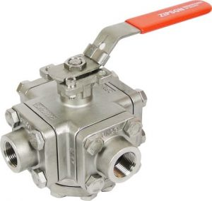 3-way high pressure ball valve, 3000 psi