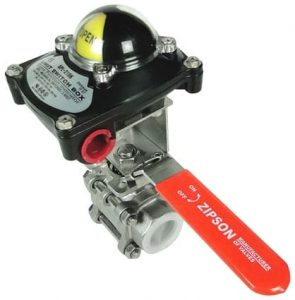 manual ball valve with limit switch box