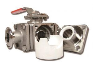 valve with PTFE cavity filler